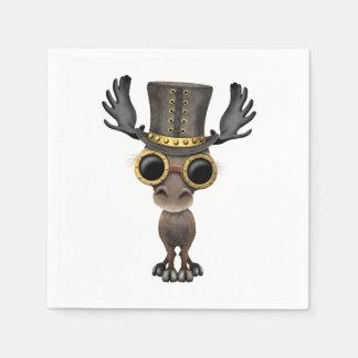 Cute Steampunk Baby Moose Paper Serviettes