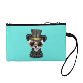 Cute Steampunk Baby Panda Bear Cub Coin Purse