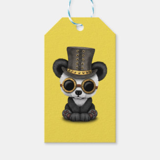 Cute Steampunk Baby Panda Bear Cub Gift Tags