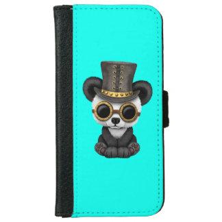 Cute Steampunk Baby Panda Bear Cub iPhone 6 Wallet Case
