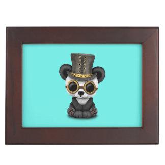 Cute Steampunk Baby Panda Bear Cub Keepsake Box