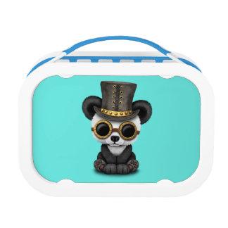 Cute Steampunk Baby Panda Bear Cub Lunch Box