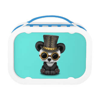 Cute Steampunk Baby Panda Bear Cub Lunchbox