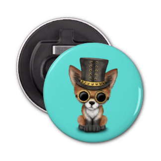 Cute Steampunk Baby Red Fox Bottle Opener