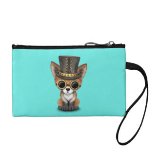 Cute Steampunk Baby Red Fox Coin Purse