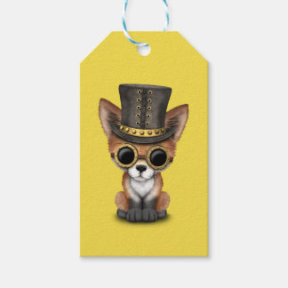 Cute Steampunk Baby Red Fox Gift Tags