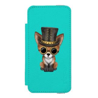 Cute Steampunk Baby Red Fox Incipio Watson™ iPhone 5 Wallet Case