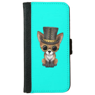 Cute Steampunk Baby Red Fox iPhone 6 Wallet Case