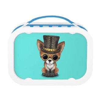 Cute Steampunk Baby Red Fox Lunch Box