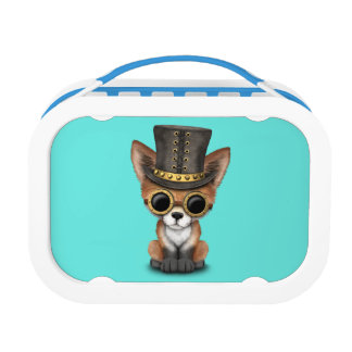 Cute Steampunk Baby Red Fox Lunchbox