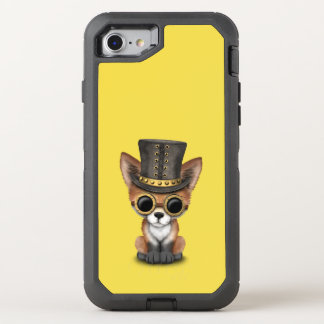 Cute Steampunk Baby Red Fox OtterBox Defender iPhone 8/7 Case