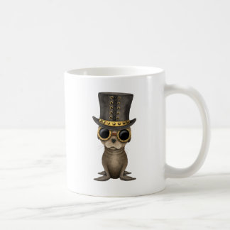 Cute Steampunk Baby Sea Lion Coffee Mug
