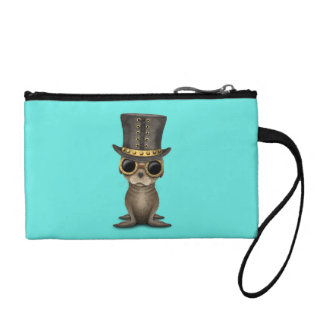 Cute Steampunk Baby Sea Lion Coin Purse