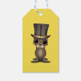 Cute Steampunk Baby Sea Lion Gift Tags