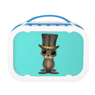 Cute Steampunk Baby Sea Lion Lunchboxes