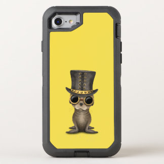 Cute Steampunk Baby Sea Lion OtterBox Defender iPhone 8/7 Case