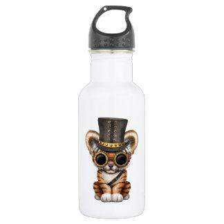 Cute Steampunk Baby Tiger Cub 532 Ml Water Bottle
