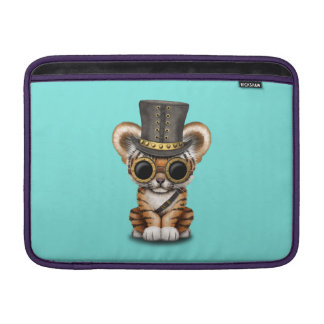 Cute Steampunk Baby Tiger Cub MacBook Sleeve