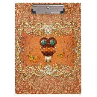 Cute steampunk owl clipboards