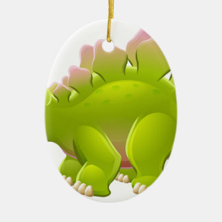 Cute Stegosaurus Cartoon Dinosaur Ceramic Ornament