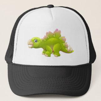 Cute Stegosaurus Cartoon Dinosaur Trucker Hat