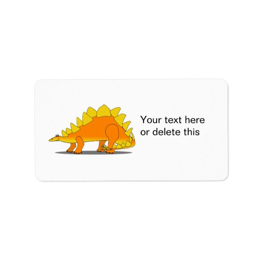 Cute Stegosaurus Dinosaur Cartoon Template Label