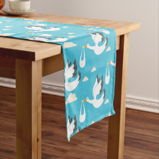 Cute Storks carrying babies pattern