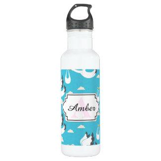 Cute Storks carrying babies pattern 710 Ml Water Bottle
