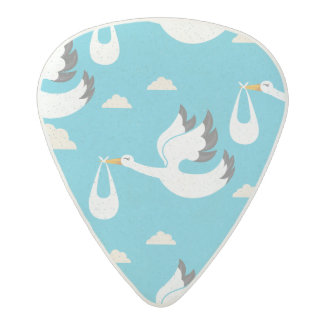 Cute Storks carrying babies pattern Acetal Guitar Pick