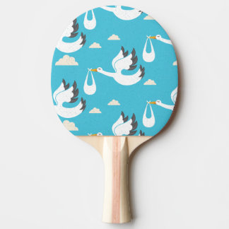 Cute Storks carrying babies pattern Ping Pong Paddle