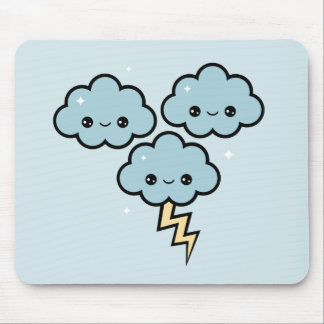 Cute Storm Clouds Mouse Pad