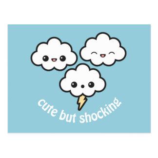 Cute Storm Clouds Postcard