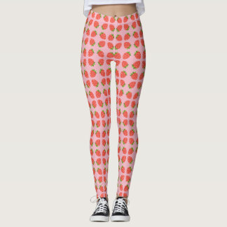 Cute Strawberries Emojis Leggings
