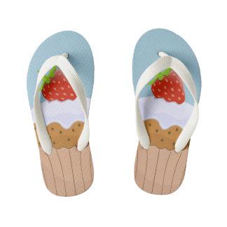 Cute Strawberry Bun Kid's Thongs