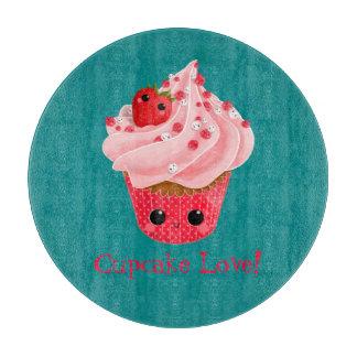 Cute Strawberry Cupcake Cutting Board