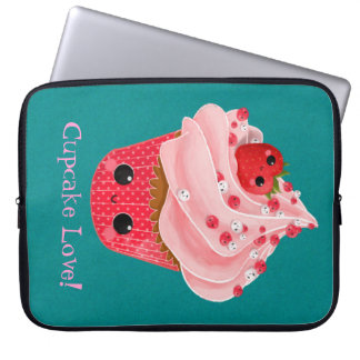 Cute Strawberry Cupcake Laptop Sleeve