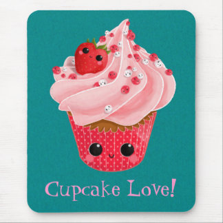 Cute Strawberry Cupcake Mouse Pads