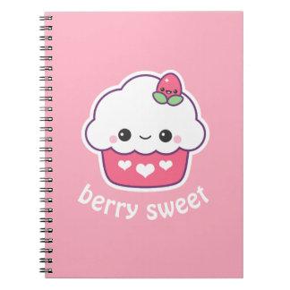 Cute Strawberry Cupcake Notebook