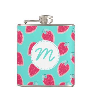 Cute Strawberry Fruit Pattern Hip Flask