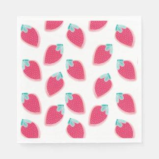 Cute Strawberry Fruit Pattern Paper Napkins