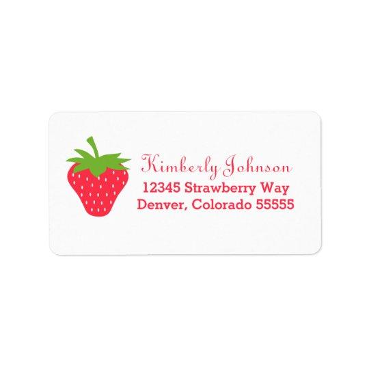 Cute Strawberry Label