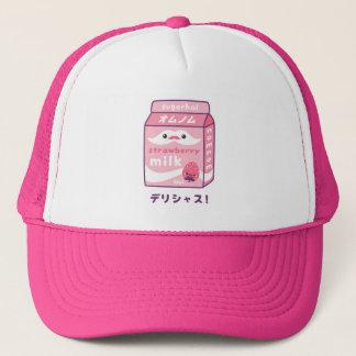 Cute Strawberry Milk Trucker Hat