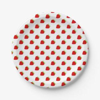 Cute Strawberry Pattern 7 Inch Paper Plate