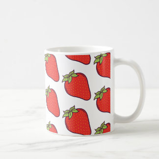Cute Strawberry Pattern Coffee Mug