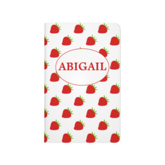 Cute Strawberry Pattern Personalised Journals