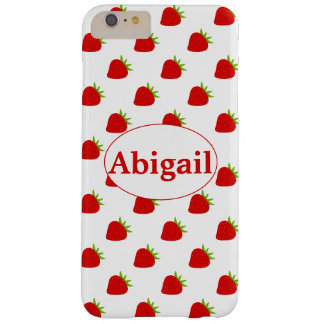 Cute Strawberry Pattern | Personalized Barely There iPhone 6 Plus Case