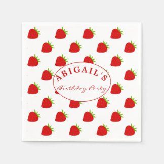 Cute Strawberry Pattern Personalized Napkin Disposable Napkin