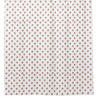 Cute Strawberry Pattern Shower Curtain