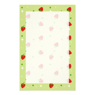 Cute Strawberry pattern stationery