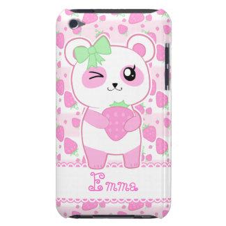 Cute Strawberry pink Kawaii Panda bear iPod Touch Case-Mate Case